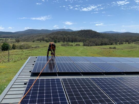 Off-Grid System Installation.Stand-Alone Solar.